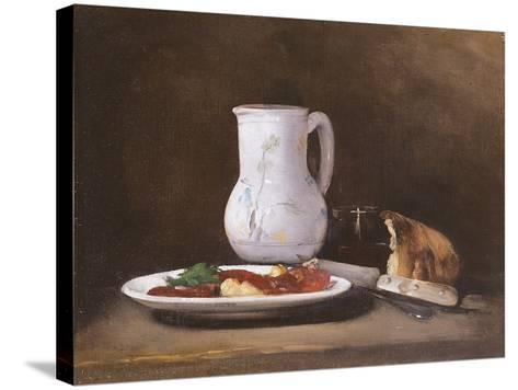 Still Life, 1861-Auguste Theodule Ribot-Stretched Canvas Print