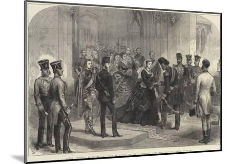 Queen Victoria Receiving the Shah of Persia at the Sovereign's Entrance, Windsor Castle, 20 June-Arthur Hopkins-Mounted Giclee Print