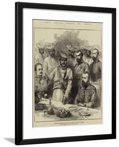 The Royal Visit to India, Scindia Proposing the Health of the Prince of Wales at Gwalior-Arthur Hopkins-Framed Art Print