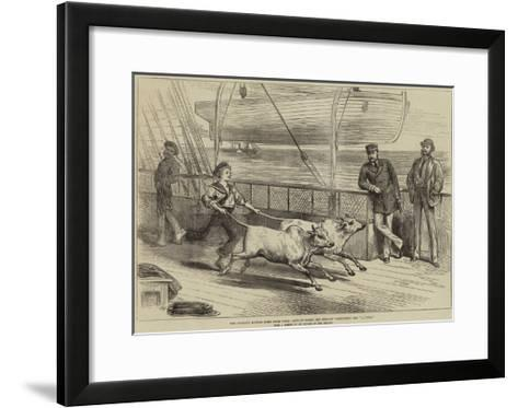 The Prince's Voyage Home from India, Life on Board the Serapis, Exercising the Gainees-Arthur Hopkins-Framed Art Print