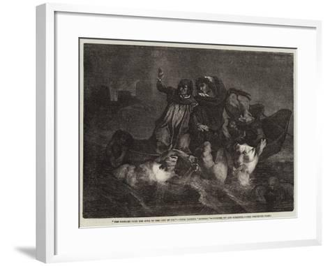 The Passage over the Styx to the City of Dis-Ary Scheffer-Framed Art Print