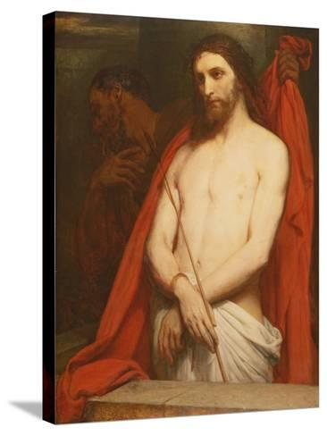 Christ with the Reed-Ary Scheffer-Stretched Canvas Print
