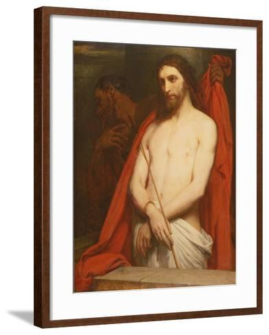 Christ with the Reed-Ary Scheffer-Framed Art Print