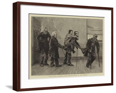 Our Artist's Christmas Entertainment, Arrival of the Visitors-Arthur Boyd Houghton-Framed Art Print