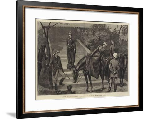 Life in Southern India, the Early Morning Ride-Arthur Hopkins-Framed Art Print