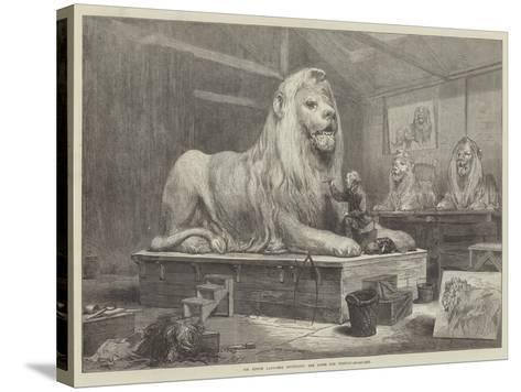 Sir Edwin Landseer Modelling the Lions for Trafalgar-Square-Arthur Hopkins-Stretched Canvas Print