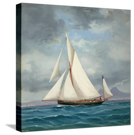 The Yawl Onyx, 52 Tons, 1889-Antonio de Simone-Stretched Canvas Print