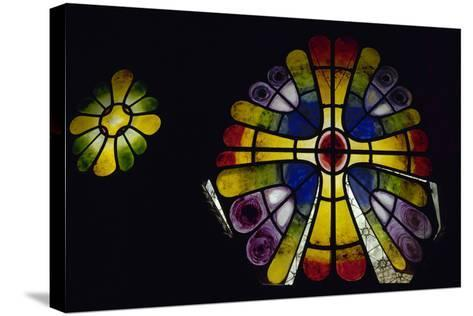 Stained Glass Window. 19th Century. Crypt of the Colonia Guell by Antonio Gaudi (1852-1926). Spain-Antonio Gaudi-Stretched Canvas Print
