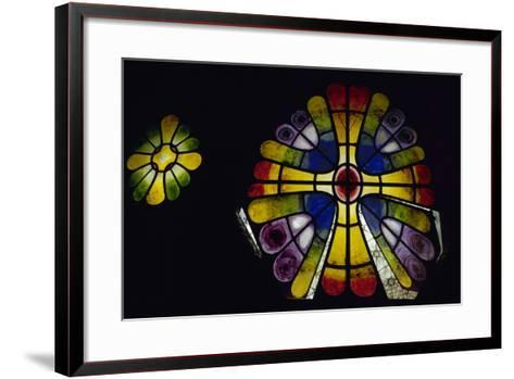 Stained Glass Window. 19th Century. Crypt of the Colonia Guell by Antonio Gaudi (1852-1926). Spain-Antonio Gaudi-Framed Art Print