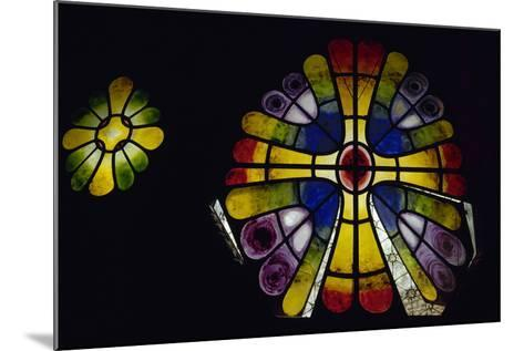 Stained Glass Window. 19th Century. Crypt of the Colonia Guell by Antonio Gaudi (1852-1926). Spain-Antonio Gaudi-Mounted Photographic Print