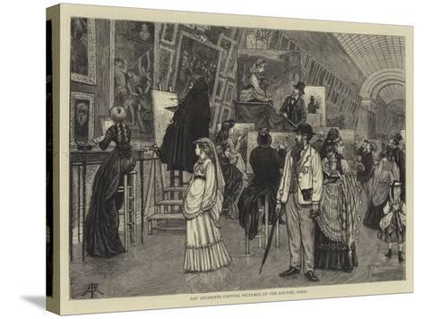 Art Students Copying Pictures at the Louvre, Paris-Arthur Boyd Houghton-Stretched Canvas Print