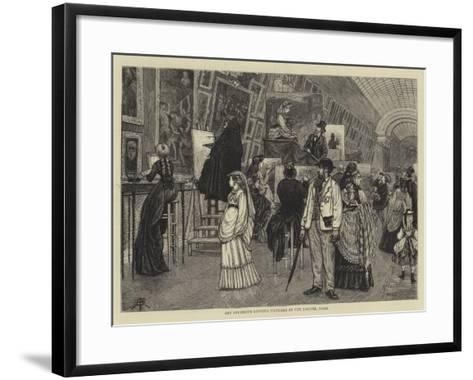 Art Students Copying Pictures at the Louvre, Paris-Arthur Boyd Houghton-Framed Art Print