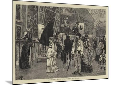 Art Students Copying Pictures at the Louvre, Paris-Arthur Boyd Houghton-Mounted Giclee Print