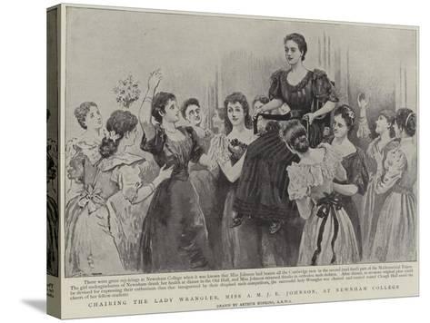 Chairing the Lady Wrangler, Miss a M J E Johnson, at Newnham College, Cambridge-Arthur Hopkins-Stretched Canvas Print