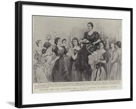 Chairing the Lady Wrangler, Miss a M J E Johnson, at Newnham College, Cambridge-Arthur Hopkins-Framed Art Print