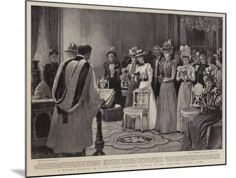A Winter Holiday in Egypt, Sunday Morning Service in the Ghezireh Palace, Cairo-Arthur Hopkins-Mounted Giclee Print