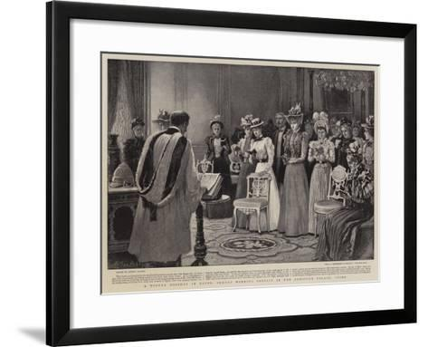 A Winter Holiday in Egypt, Sunday Morning Service in the Ghezireh Palace, Cairo-Arthur Hopkins-Framed Art Print