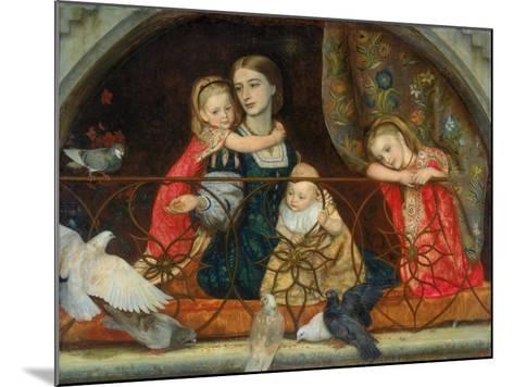 Mrs Leathart and Her Three Children, C.1863-65-Arthur Hughes-Mounted Giclee Print