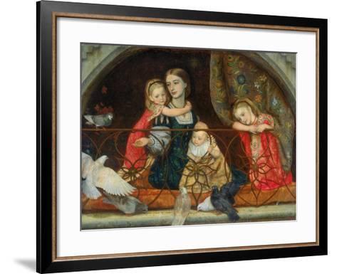 Mrs Leathart and Her Three Children, C.1863-65-Arthur Hughes-Framed Art Print