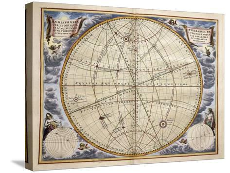 Trajectories of Planets and Stars as Seen from Earth-Andreas Cellarius-Stretched Canvas Print