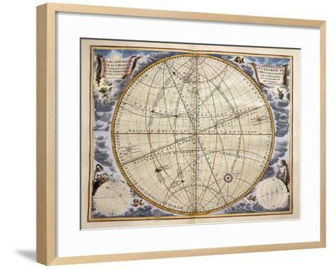 Trajectories of Planets and Stars as Seen from Earth-Andreas Cellarius-Framed Art Print