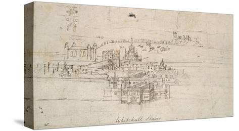 The Tower of London (Pen and Brown Ink over Faint Indications in Black Chalk)-Anthonis van den Wyngaerde-Stretched Canvas Print