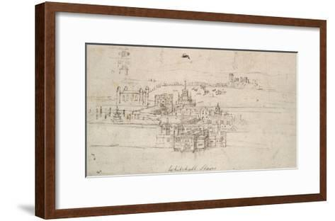The Tower of London (Pen and Brown Ink over Faint Indications in Black Chalk)-Anthonis van den Wyngaerde-Framed Art Print