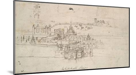The Tower of London (Pen and Brown Ink over Faint Indications in Black Chalk)-Anthonis van den Wyngaerde-Mounted Giclee Print