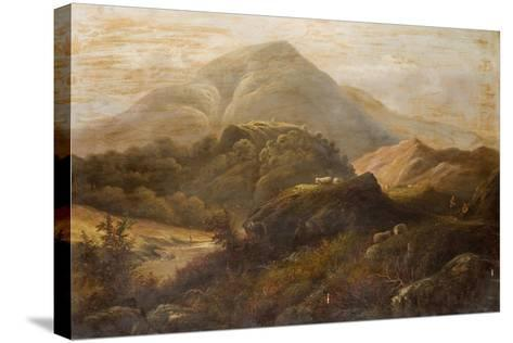 Landscape with Sheep-Anthony Graham-Stretched Canvas Print