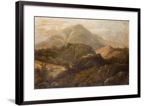 Landscape with Sheep-Anthony Graham-Framed Art Print