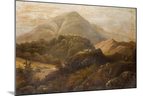 Landscape with Sheep-Anthony Graham-Mounted Giclee Print