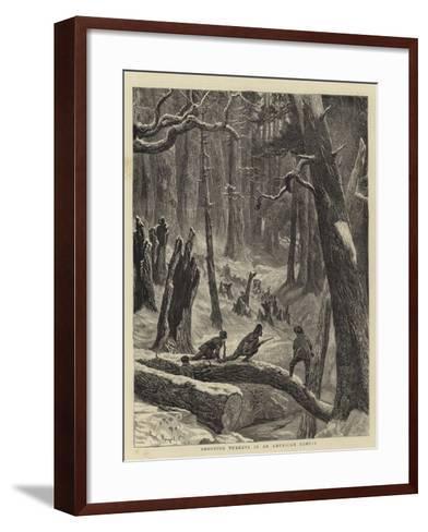 Shooting Turkeys in an American Forest-Arthur Boyd Houghton-Framed Art Print