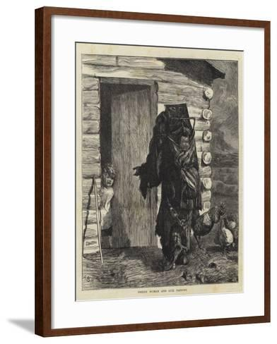 Indian Woman and Sick Papoose-Arthur Boyd Houghton-Framed Art Print