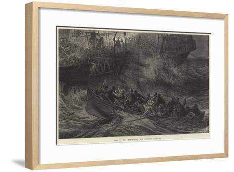 Loss of the Northfleet, the Captain's Farewell-Arthur Hopkins-Framed Art Print