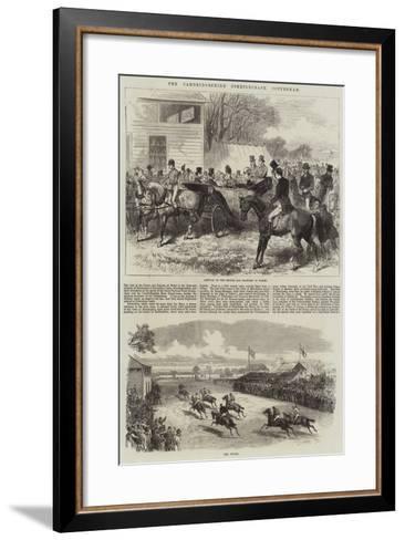 The Cambridgeshire Steeplechase, Cottenham-Arthur Hopkins-Framed Art Print