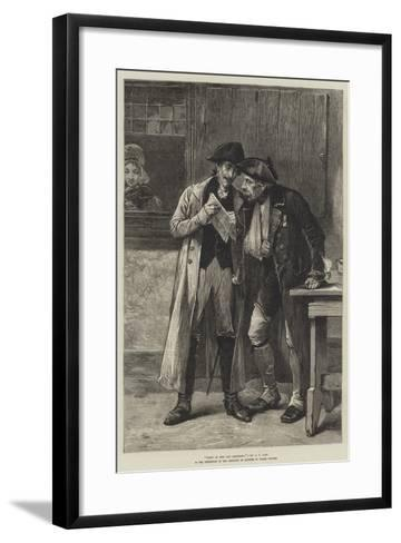 News of the Old Regiment-Andrew Carrick Gow-Framed Art Print