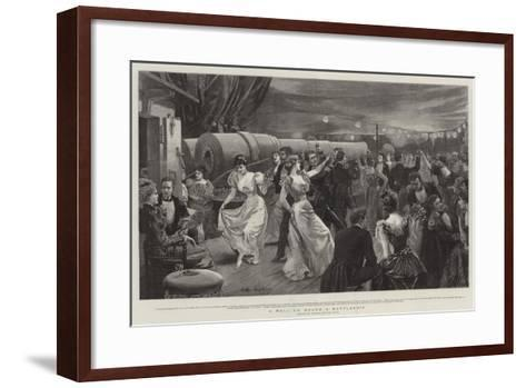 A Ball on Board a Battleship-Arthur Hopkins-Framed Art Print