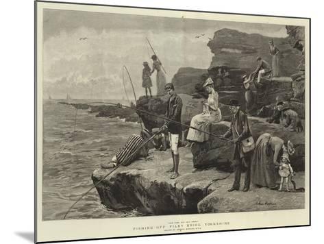 Fishing Off Filey Brigg, Yorkshire-Arthur Hopkins-Mounted Giclee Print