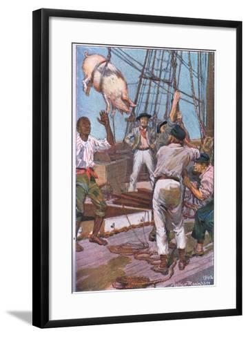 The Pig Squealed Like the 'Crack of Doom'-Arthur Rackham-Framed Art Print