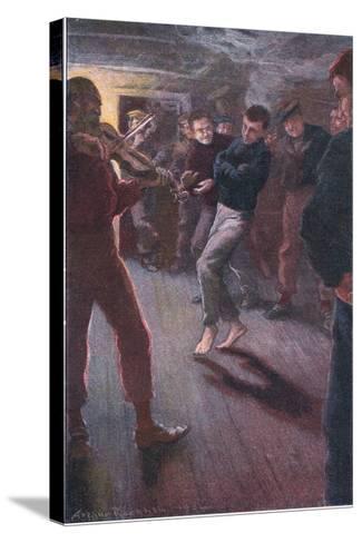 The Boy Could Dance the Fisherman's Jig-Arthur Rackham-Stretched Canvas Print