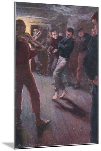 The Boy Could Dance the Fisherman's Jig-Arthur Rackham-Mounted Giclee Print