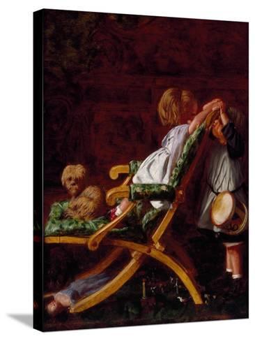 Playmates, 1866-Arthur Boyd Houghton-Stretched Canvas Print