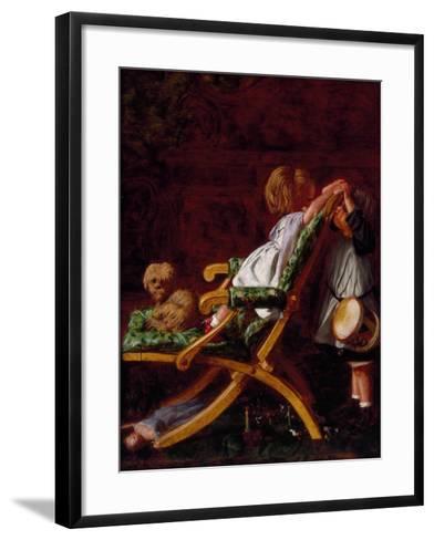 Playmates, 1866-Arthur Boyd Houghton-Framed Art Print