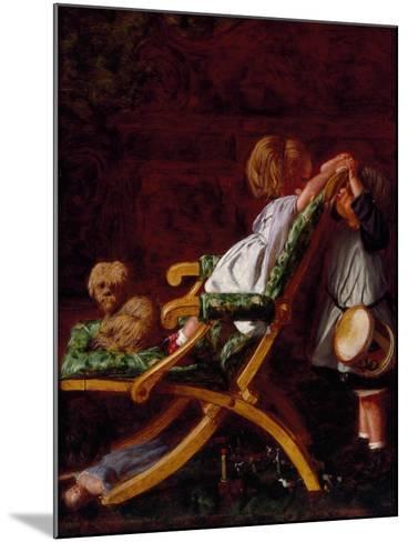 Playmates, 1866-Arthur Boyd Houghton-Mounted Giclee Print
