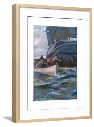 As She Was Leaving the Side-Arthur Rackham-Framed Art Print