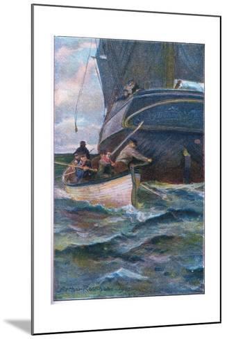 As She Was Leaving the Side-Arthur Rackham-Mounted Giclee Print