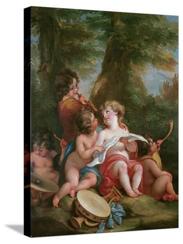 Music-Angelica Kauffmann-Stretched Canvas Print
