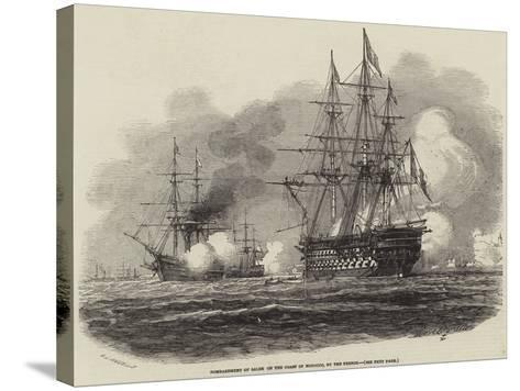 Bombardment of Salee on the Coast of Morocco, by the French-Antoine Leon Morel-Fatio-Stretched Canvas Print