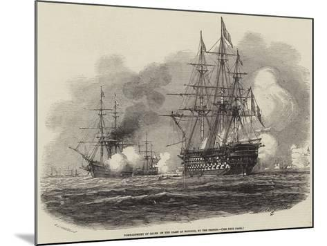Bombardment of Salee on the Coast of Morocco, by the French-Antoine Leon Morel-Fatio-Mounted Giclee Print