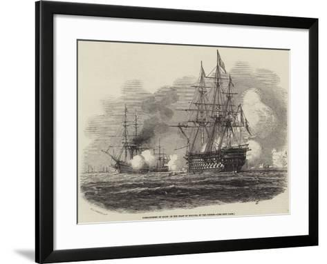 Bombardment of Salee on the Coast of Morocco, by the French-Antoine Leon Morel-Fatio-Framed Art Print